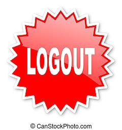 écusson, autocollant, bannière, toile, étoile, timbre, emblème, étiquette, étiquette, logout, publicité, rouges, icône