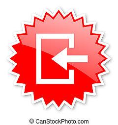 écusson, autocollant, bannière, toile, étoile, timbre, emblème, étiquette, entrer, étiquette, publicité, rouges, icône