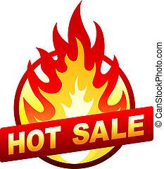 écusson, autocollant, brûler, coût, vente, chaud, flamme