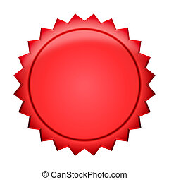écusson, bouton, -, rouges