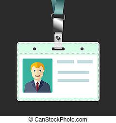 écusson, marque nom, avatar, vide, support, id