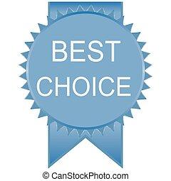écusson, mieux, vecteur, choice., vide, illustration.