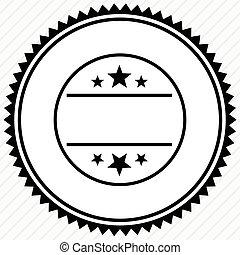 écusson, space., étiquette, cachet, bouton, template., vide