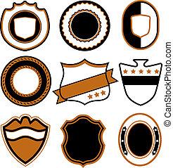 écusson, symbole, conception