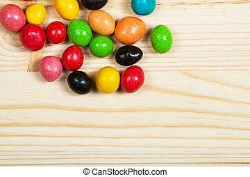 édesség, különböző, erdő, színes
