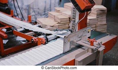 édition, presque, détail, ligne., impression, livres, prêt, establishment., production