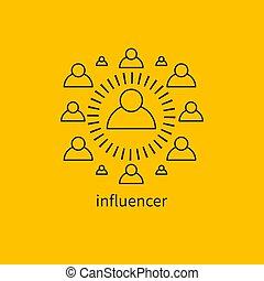 éditorial, influencer, icône