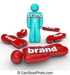éditorial, produit, sommet, marque, une, compagnie, marché