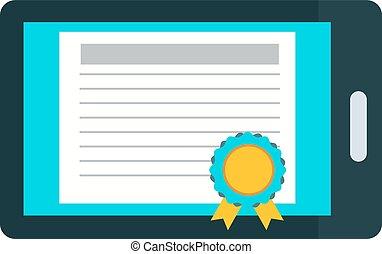 éducation ligne, certificat