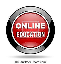 éducation ligne, icône