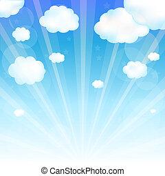 ég, és, felhő