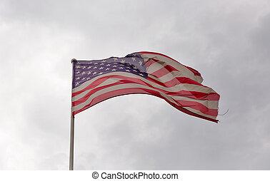 ég, amerikai, ellen, lenget lobogó, felhős
