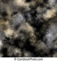 ég, felhős, éjszaka