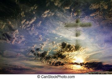 ég, kereszt, ellen