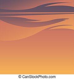 ég, narancs, tervezés, vektor, háttér