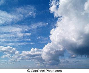 ég, noha, cumulus felhő