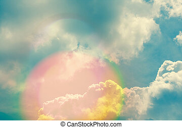 ég, természetes, elhomályosul, sunlights, háttér