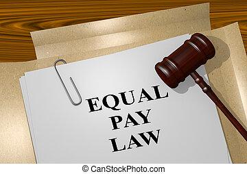 égal, légal, droit & loi, concept, payer