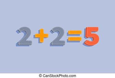 égale, decision., progrès, plan, illustration., nombres, cinq, géométrique, deux, droit, financier, plus, business, indicateurs, élégant