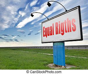 égalité, égalité droits