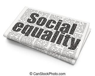 égalité, fond, social, journal, politique, concept: