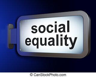 égalité, fond, social, panneau affichage, politique, concept: