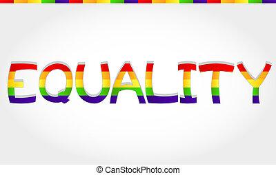 égalité, mot