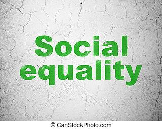 égalité, mur, fond, social, politique, concept: