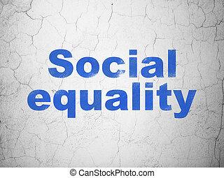 égalité, mur, politique, fond, social, concept: