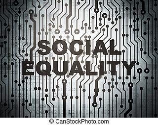 égalité, politique, planche, circuit, social, concept: