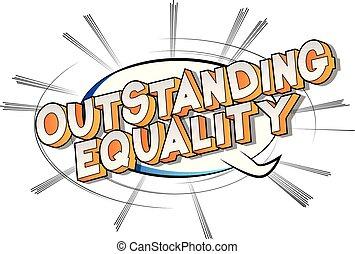 égalité, remarquable