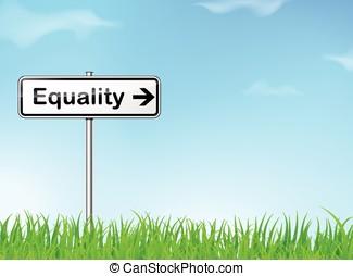 égalité, signe