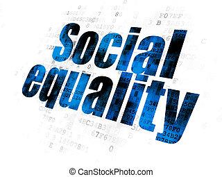 égalité, social, fond, numérique, politique, concept: