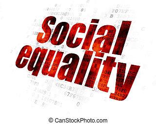 égalité, social, politique, fond, numérique, concept: