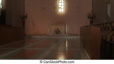 église, catholique, bourdonner, intérieur