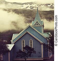 église, dans, islande