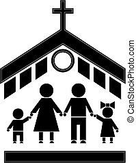église, figure bâton