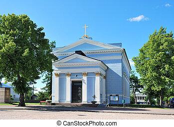 église, finland., hamina, lutheran