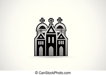 église, icône, logo