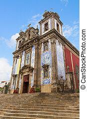église, ildefonso, porto, portugal, rue