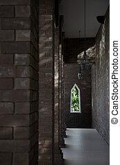 église, interior.