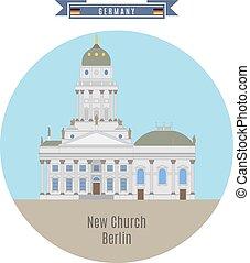 église, nouveau, allemagne, berlin