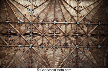 église, plafond, chapelle, angleterre, fitzalan