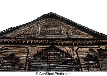 église, siècle, russie, north-west, bois, 19ème