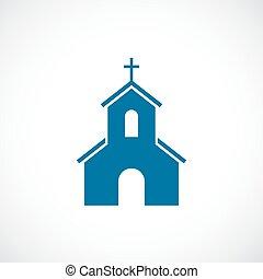 église, vecteur, icône