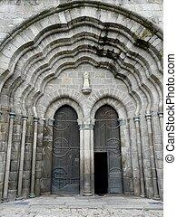 église, vieux, portes, france