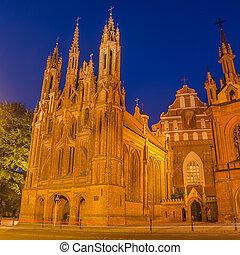 églises, dans, vilnius, lituanie