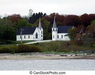 églises, deux