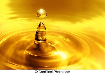 égouttement, huile