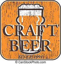 égratignure, bière, vecteur, caboteur, lunettes